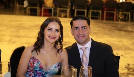 Claudia Dibildox y Francisco Cabral .