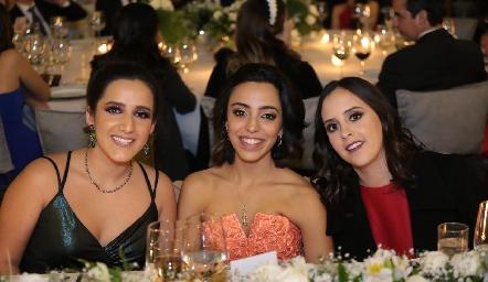 María Lavín, Ale de Luna y Elena Meade.