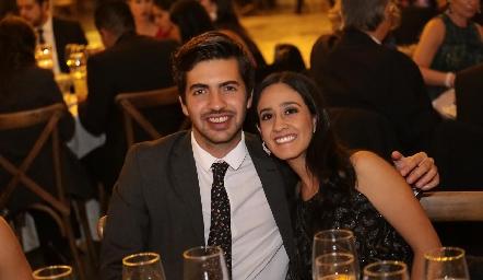Mauricio Espinosa y María José Abud.