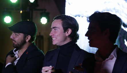 Juan Pablo Payán, Mateo Guerra y Manolo Martins.