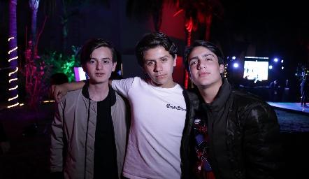 Pato Sarquis, Pato Ojeda y Juan Carlos de la Rosa.