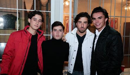 Santiago Rodríguez, Julio Córdova, Alejandro Navarro y Jaime Ruiz .