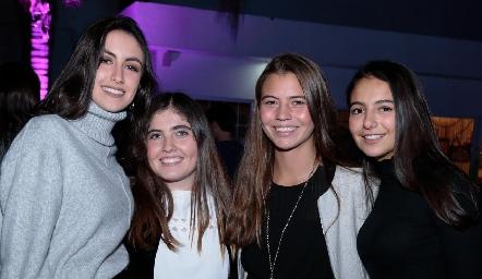 Ximena Nieto, Andrea Salazar, Caro Zermeño y Marisol Corripio.