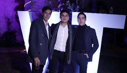 Andrés Quintero, Pj Piñero y Chente Azcona.
