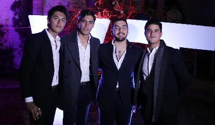 Miguel, Andrés, Juan Pablo y Pj.