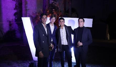 Andrés, Javier, Pj y Chente.