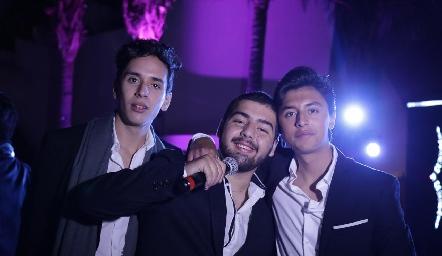 Juan Pablo Chevaile, Juan Pablo Payán y Miguel Ruiz.