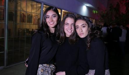 Vale Salazar, Bárbara Massa y Luciana Abud.