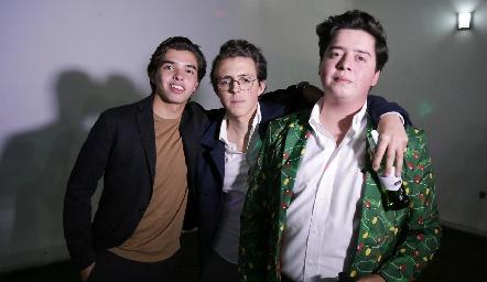 Gonzalo Alcalde, Lolo Ferretiz y Juan Pablo Arriaga.