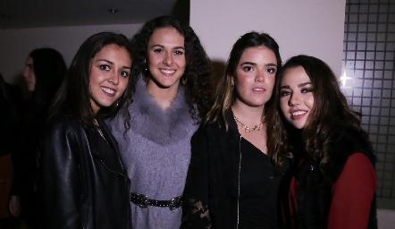 Natalia Rentería, María Meade, Carlota de la Garza y Ale Michel.
