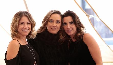 Fernanda Aguilar, Mariana Galán y Marisol de la Maza.