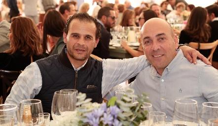Mauricio González y Marcelo Basurto.