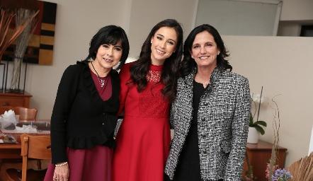 Tere Guerrero, Teté Mancilla y Gabriela Meade.