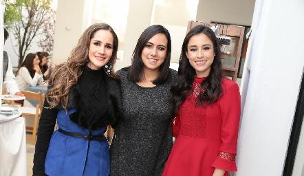Dani Mina, María José Berrueta y Teté Mancilla.
