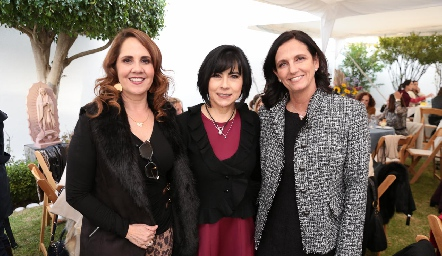 Gabriela Payán, Teresa Guerrero y Gabriela Meade.