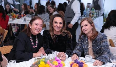 Marcela Rangel, Norma Galarza y Maripepa Valladares.