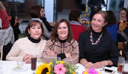Ana Aguiñaga, Chita Gómez y Marcela Rangel.