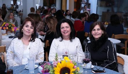 Susana Rangel de Lozano, Ana Patricia Ordoñez y Luchi Castelo.