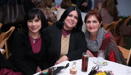 Teresa Guerrero, Laura Márquez y Rocío Delgado.