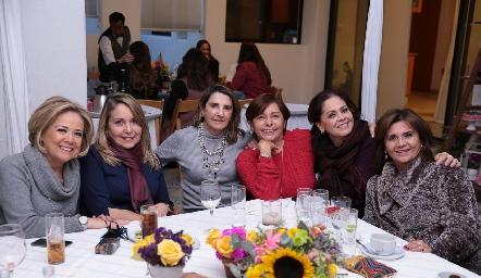Analú Medina, Luzma Navarro, Mayte Bustindui, Lorena Aguiñaga, Carmen Martínez e Irasema Medellín.