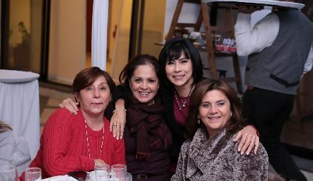 Lorena Aguiñaga, Carmen Martínez, Tere Guerrero e Irasema Medellín.