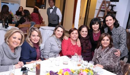 Analú Medina, Luzma Navarro, Mayte Bustindui, Lorena Aguiñaga, Carmen Martínez, Tere Guerrero, Gabriela Meade e Irasema Medellín.