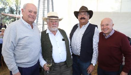 Carlos Aldrete, Guillermo Pizzuto, Carlos Torres y Antonio Cueli.