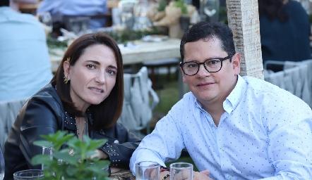 María José Abaroa y Sergio Quibrera.