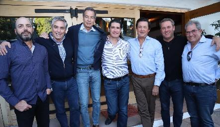 Jeppo Mahbub, Gerardo Serrano, José Luis Hernández, Amadeo Calzada, Carlos López, Juan Benavente y Alfonso Galán.