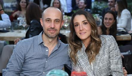 Alejandro Gutiérrez y Marcela Rivero.