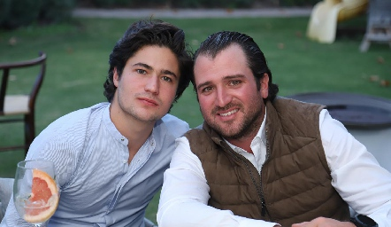 Pollo Acevedo y Óscar Pérez.