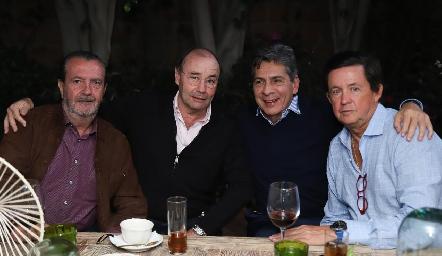 Ángel Rivero, Fernando López, Julio Castelo y Carlos López.