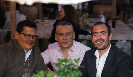 Sergio Quibrera, Héctor Galán y Manuel González.