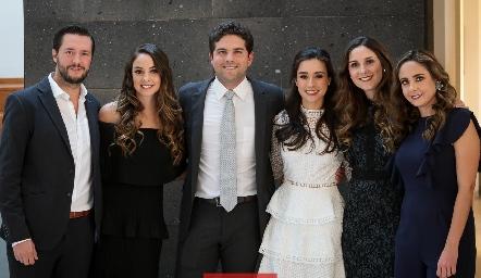 Rodrigo Planas, Paloma Díaz Infante, Federico Díaz Infante, Tere Mancilla, Miriam y Ana Gaby Díaz Infante.