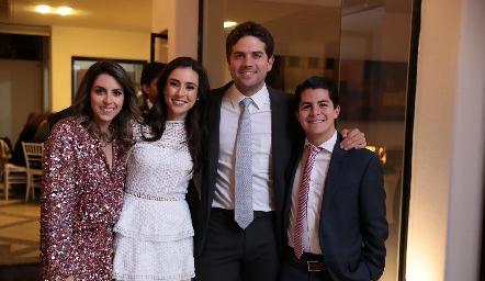 Regina Oliva, Teté Mancilla, Fico Díaz Infante y Arturo Hernández.