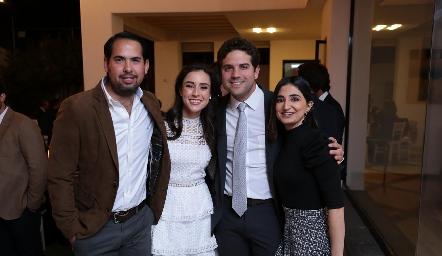 Teté y Fico con Rafael Araiza y Samira Romo.