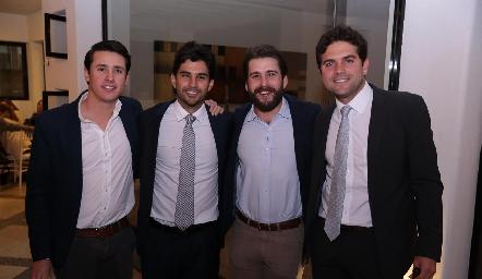 José María Díaz Infante, José Luis Leiva,, Juan Pablo Chávez y Federico Díaz Infante.