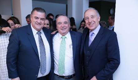 Nicolás Mina, Alejandro Mancilla y Federico Díaz Infante.