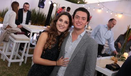 Miriam Díaz Infante y Edgar García.
