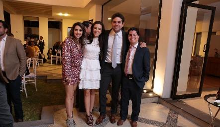 Regina Oliva, Tere Mancilla, Federico Díaz Infante y Arturo Hernández.