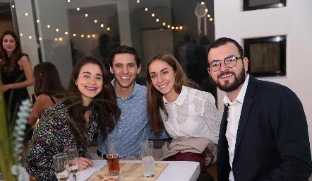 Andrea Carvajal, Ramón Zacarías, Marian Garcín y  Andrés Domínguez.
