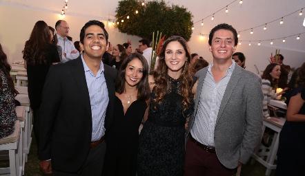 José Pablo Domínguez, Paola Díaz de León, Miriam Díaz Infante y Edgar García.