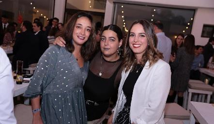 Verónica Montelongo, Daniela González y Ana Paula Fernández.