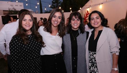 Alejandra Castelo, María Pía González, María José Aranda y Ale Berrueta.