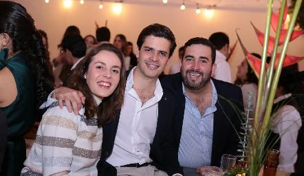 Tere Ledezma, Luis Torres y Fernando Domínguez.