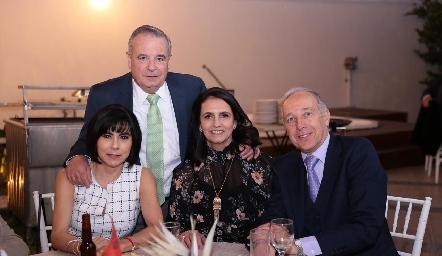Alejandro Mancilla, Teresa Guerrero, Gabriela Meade y Federico Díaz Infante.