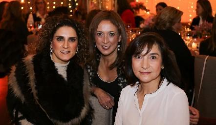 Berenice Díaz Infante, Odile Sánchez y Pina Cadena.