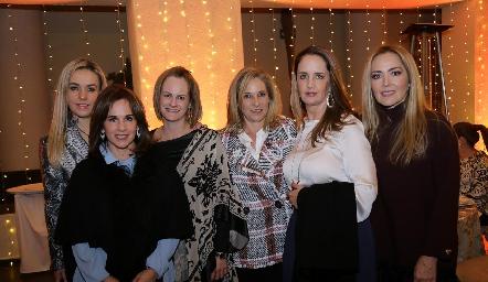 Mónica Torres, Martha del Río, Rocío Gómez, Claudia Díaz Infante, Montse Fonte y Claudia del Pozo.