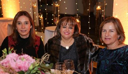 Betilú Sánchez, Bety Vázquez y Marlú Mendizábal.