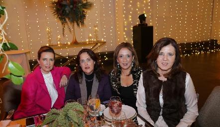 Lucía Martínez, Martha Huerta, Odile Sánchez y Marcela Milán.